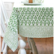 Pacific & Rose Textiles Block Print Table Cloth 60 x 90