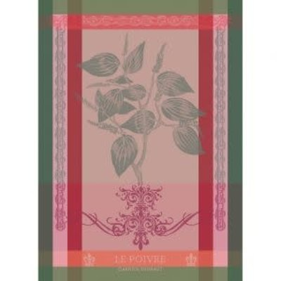 Garnier Thiebaut BRIN DE POIVRE ROSE Kitchen Towel 22''''x30'''', 56cmx77cm, 100% Cotton''