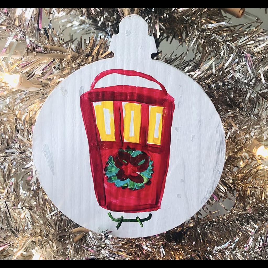 Art By Allie Christmas Streetcar Ornament