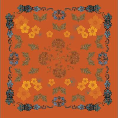 "Garnier Thiebaut Armonia Mandarine Tablecloth 61""x102"""