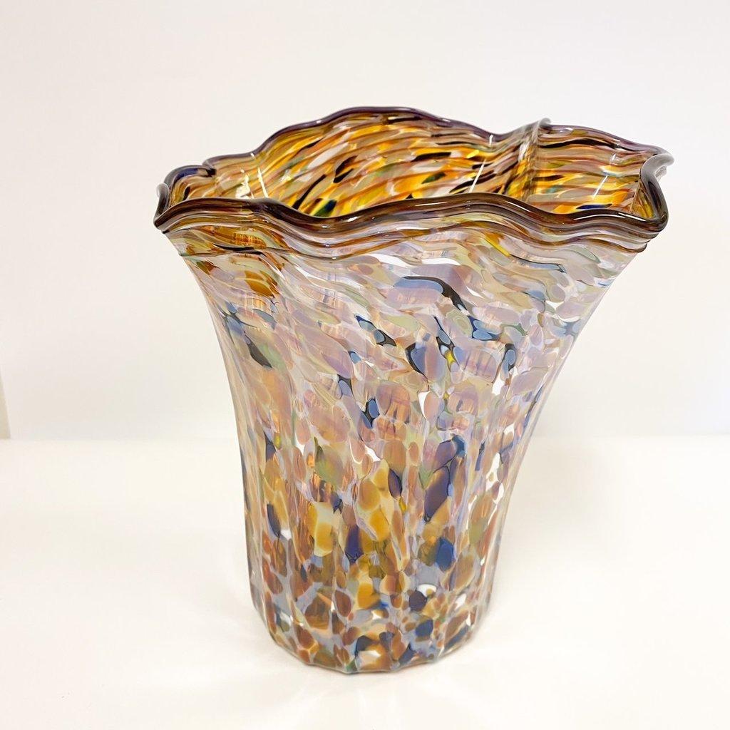 Ridge Walker Glass Hand-blown floppy bowl