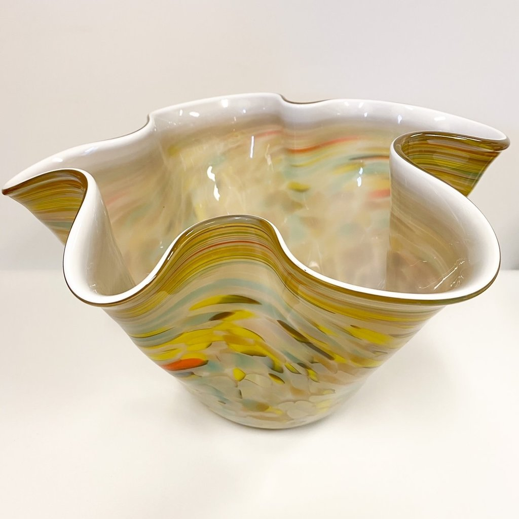Ridge Walker Glass Hand-blown Large Bowl