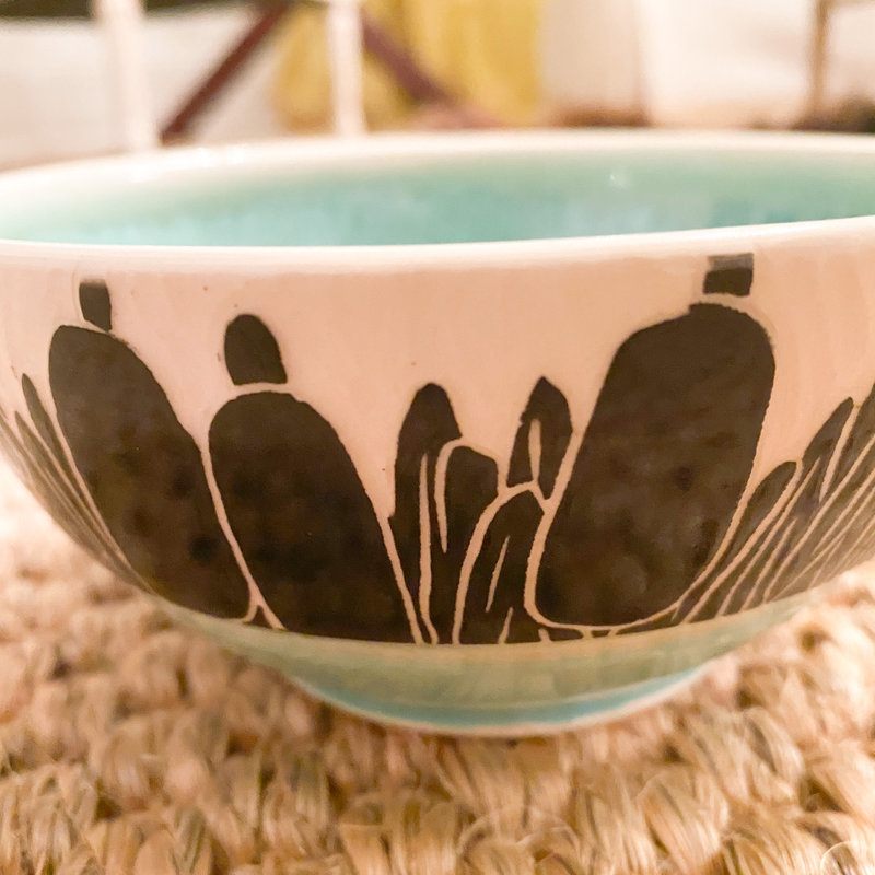 Rachael DePauw Reed Green Cereal Bowl