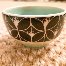 Rachael DePauw Green Pattern Sauce Bowl