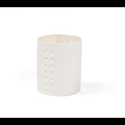 Ngala Trading Porcelain Tea Light Rattan
