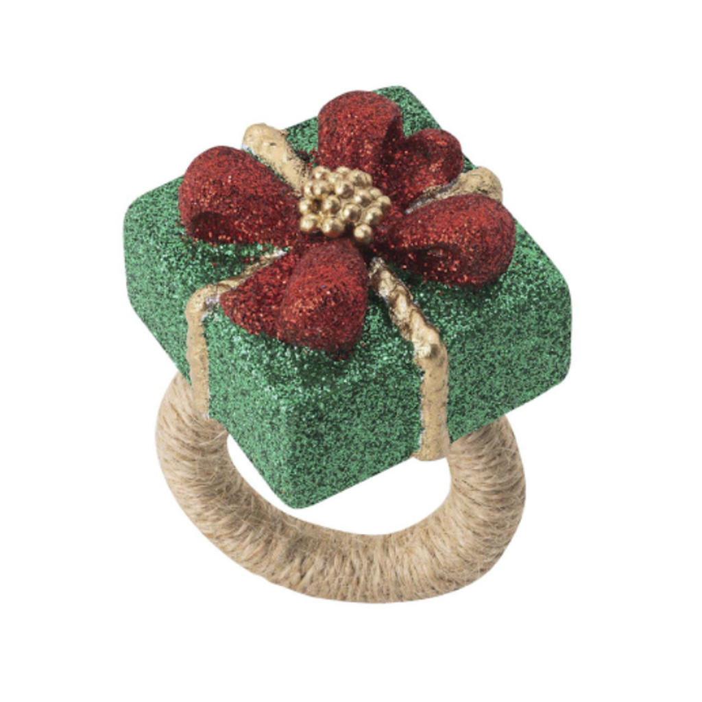 Juliska Napkin Ring Present Berry & Thread Set/4
