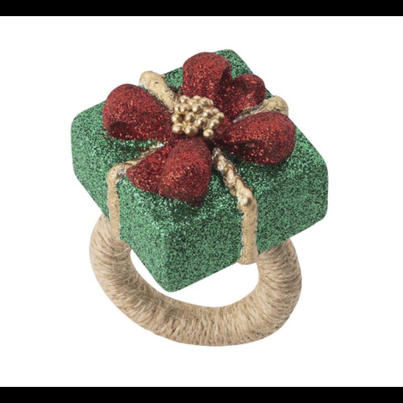 Juliska Napkin Ring Present Berry & Thread Set/4