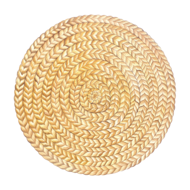 Hester and Cook Die-Cut Braided Jute Placemat