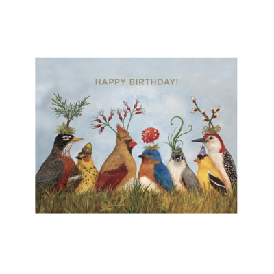 Hester and Cook Hester and Cook Angie's Party Birthday Card - Gold Foil - ''Happy Birthday!''