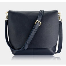 GiGi Handbags Andie Crossbody Black Napa Luxe Leather