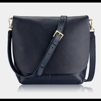 GiGi Handbags Andie Crossbody Black Napa Luxe Leather