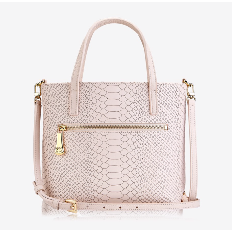 GiGi Handbags BILLIE CROSSBODY Nude Embossed Python
