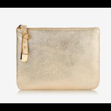 GiGi Handbags Luna Pouch Camel and Platinum Mythical Metallic