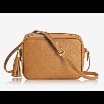 GiGi Handbags Madison Crossbody Camel Napa Lux Leather