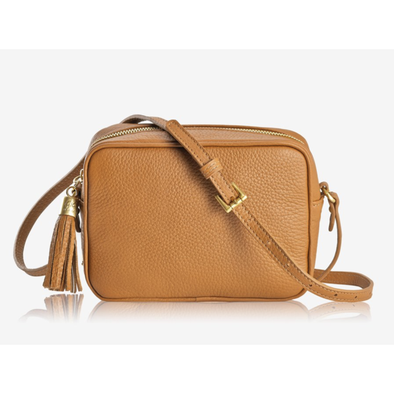 GiGi Handbags Madison Crossbody Camel Napa Lux Leather