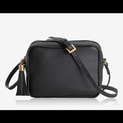 GiGi Handbags Madison Crossbody Black Napa Lux Leather