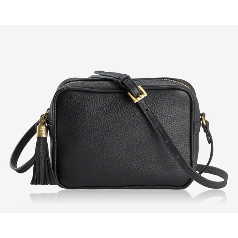 GiGi Handbags Madison Crossbody Black Napa Lux Leather
