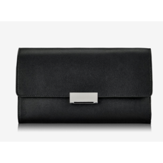 GiGi Handbags Melrose Clutch Black Smooth Leather