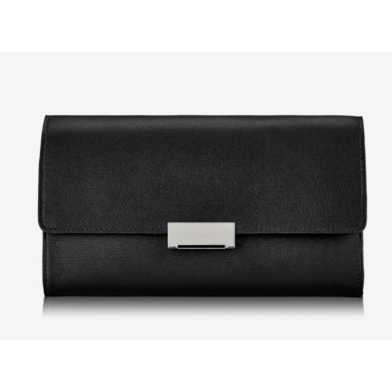 GiGi Handbags Melrose Clutch Black Smooth Leather