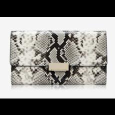 GiGi Handbags Melrose Clutch Natural Python