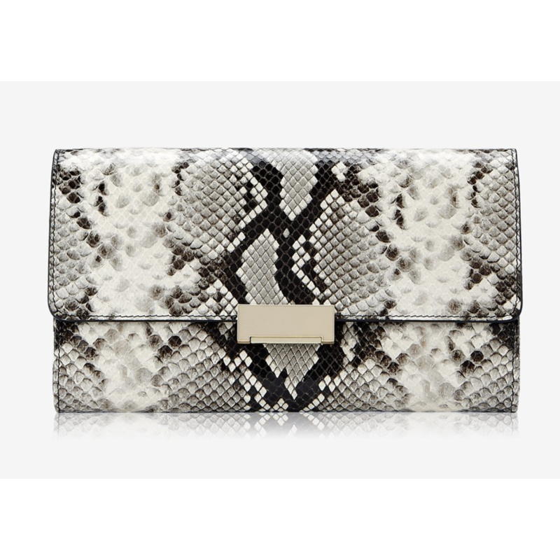 GiGi Handbags Melrose Clutch Natural Python