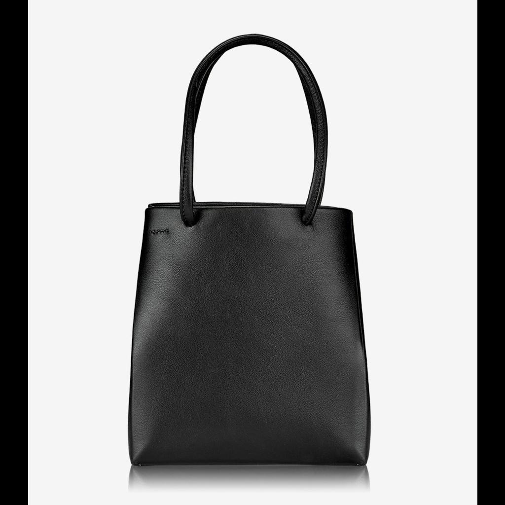 GiGi Handbags Sydney Mini Shopper Black Smooth Leather