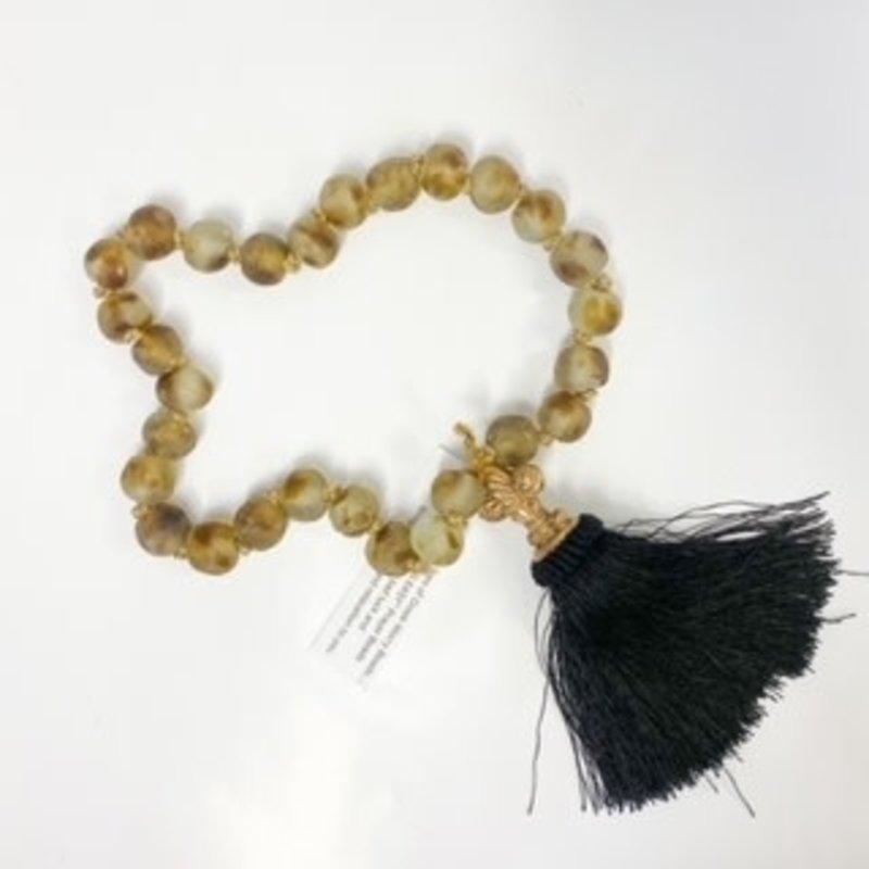 Ann Lee Sarpy Ann Lee Sarpy Large Motiled Brown Beads
