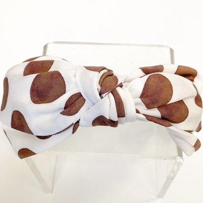 Brooke Wright Brooke Wright White/Large Brown Dots Headband