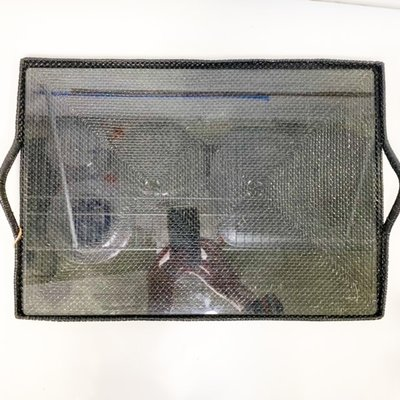Calaisio Calaisio Rectangle Tray Black with Glass Medium