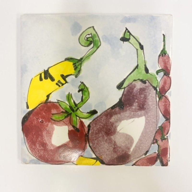 Steve Hasslock Steve Hasslock 6x6 Eggplant Veggie Tile
