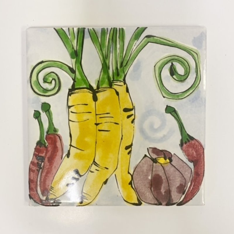 Steve Hasslock Steve Hasslock 6x6 Vegetable Tile