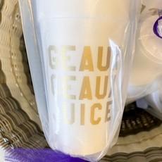 Elle Paperie Geaux Geaux Juice Foam Cups