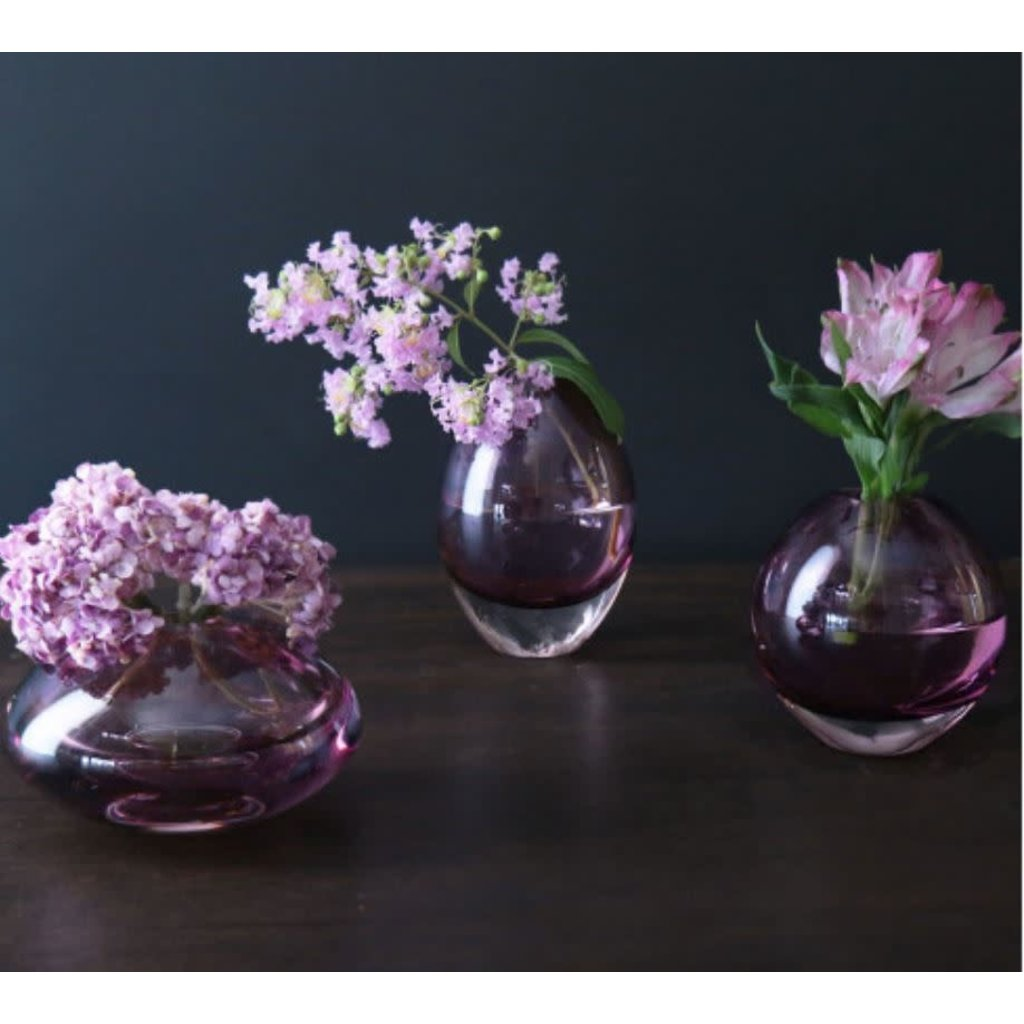 Beatriz Ball Glass Smooth Short Bud Vase