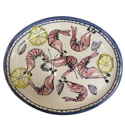 Steve Hasslock Oval Shrimp Plate