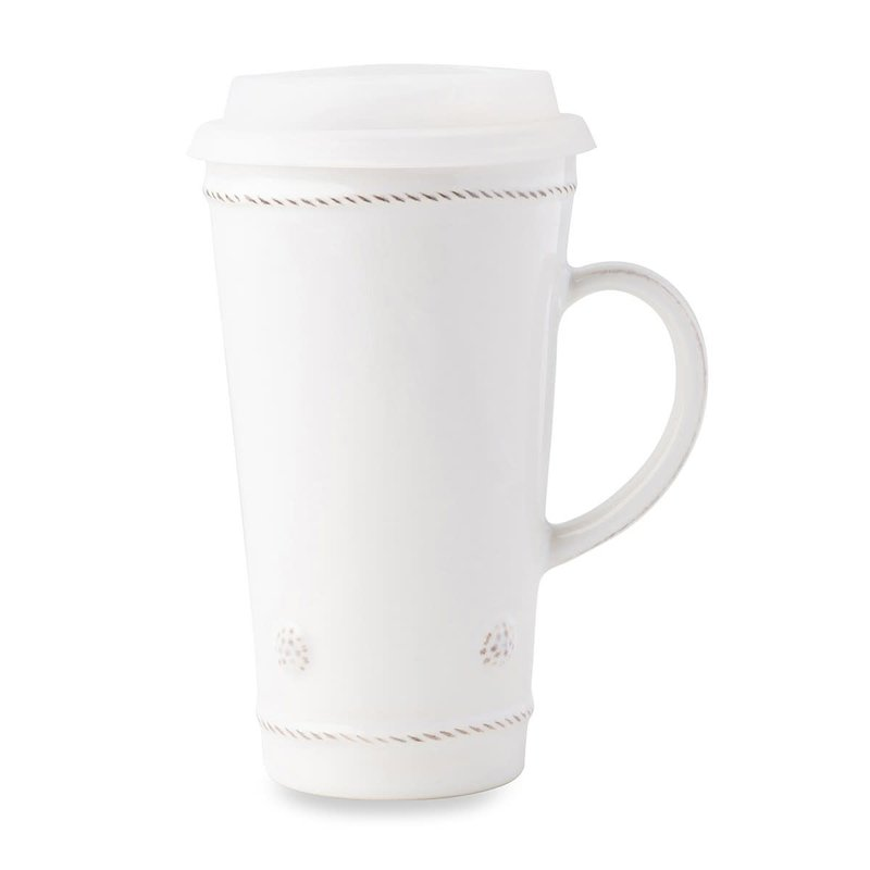 Juliska Tall Travel Mug B&T Whitewash