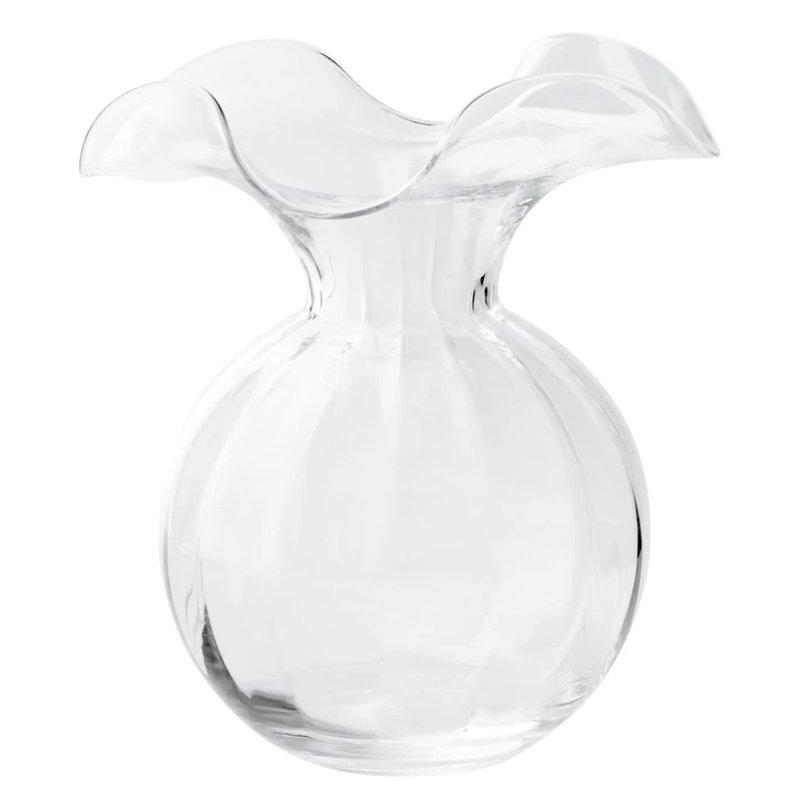 Vietri HIBISCUS GLASS CLEAR MEDIUM VASE