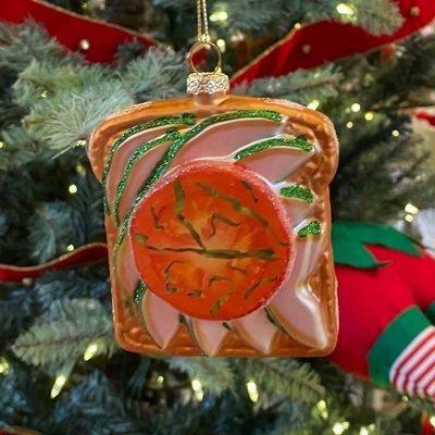 One Hundred 80 Degrees Avocado Toast Ornament