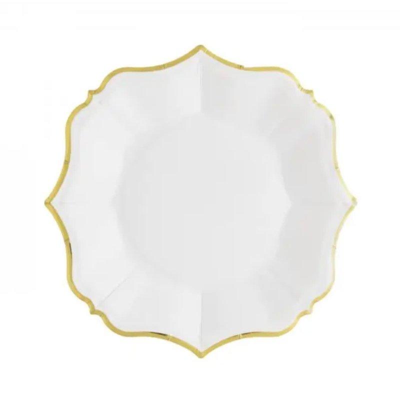 Eid Creations White Linen Dessert Plates