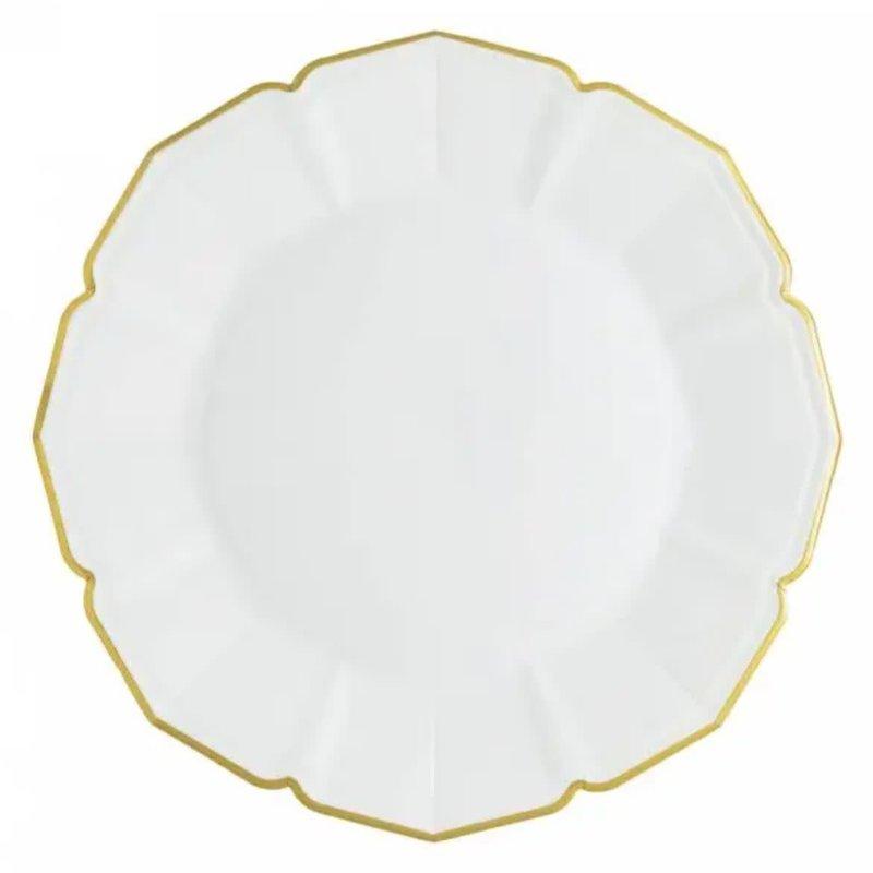 Eid Creations White Linen Dinner Plates