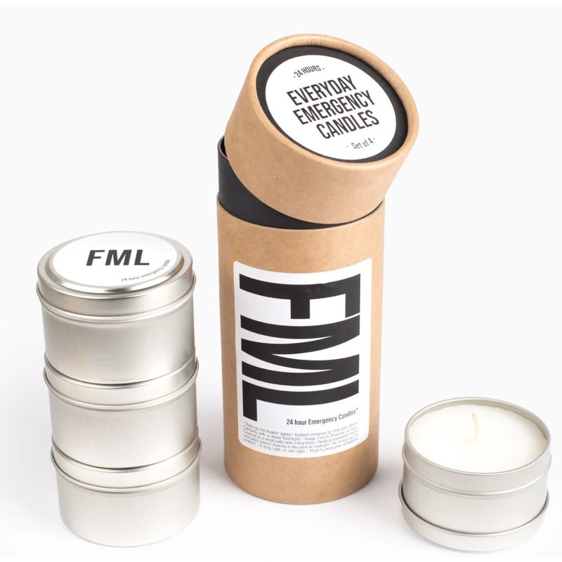 54 Celsius FML - Everyday Emergency Candles, 4 Pack