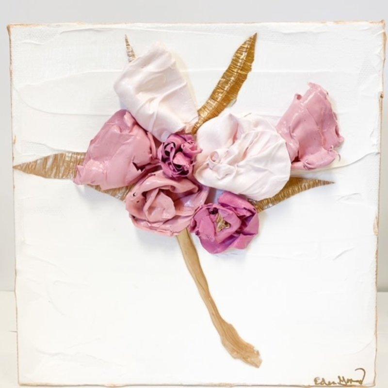 Eden Gorney Eden Gorney Forever Flowers 8x8 Dark Pink
