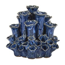 Continental Home Blue Short Coral Vase