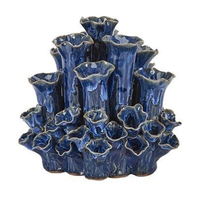 Continental Home Blue Short Coral Vase