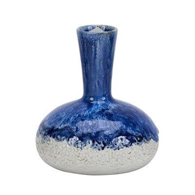 Continental Home Blue/White Long Neck Vase