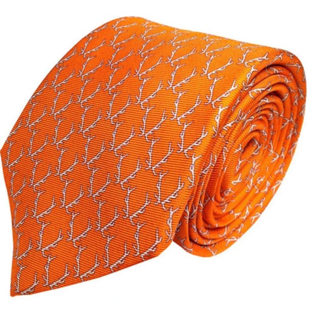 Lazy Jack Press Buckwild Tie- Orange
