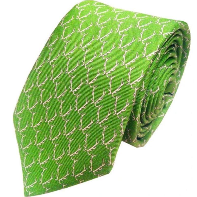 Lazy Jack Press Buckwild Tie- Green