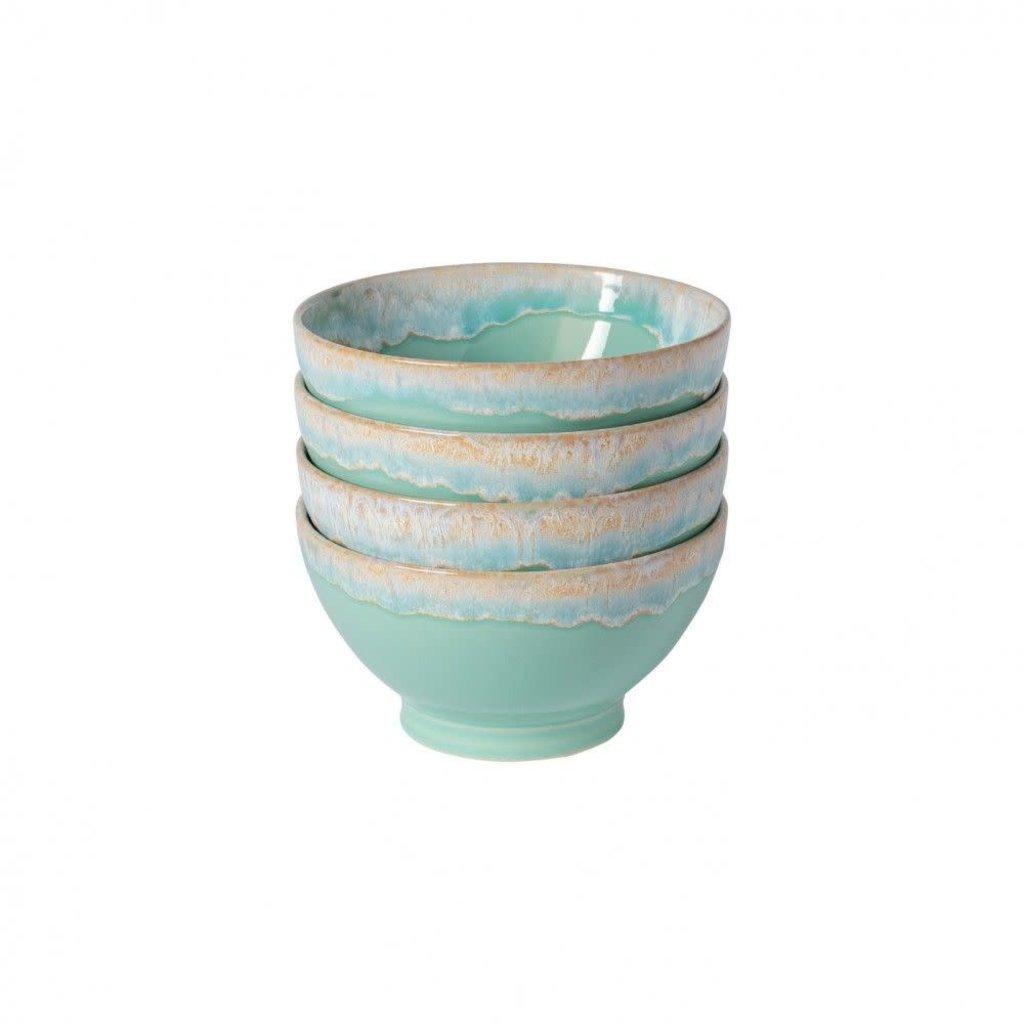 Casafina Set of 4 Latte Bowls Aqua