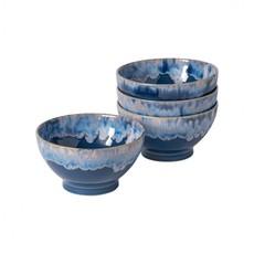 Casafina Set of 4 Latte Bowls Denim