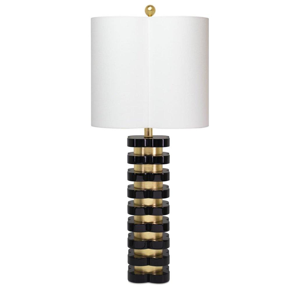 Couture Lamps 32'' Quatrefoil Lamp Black