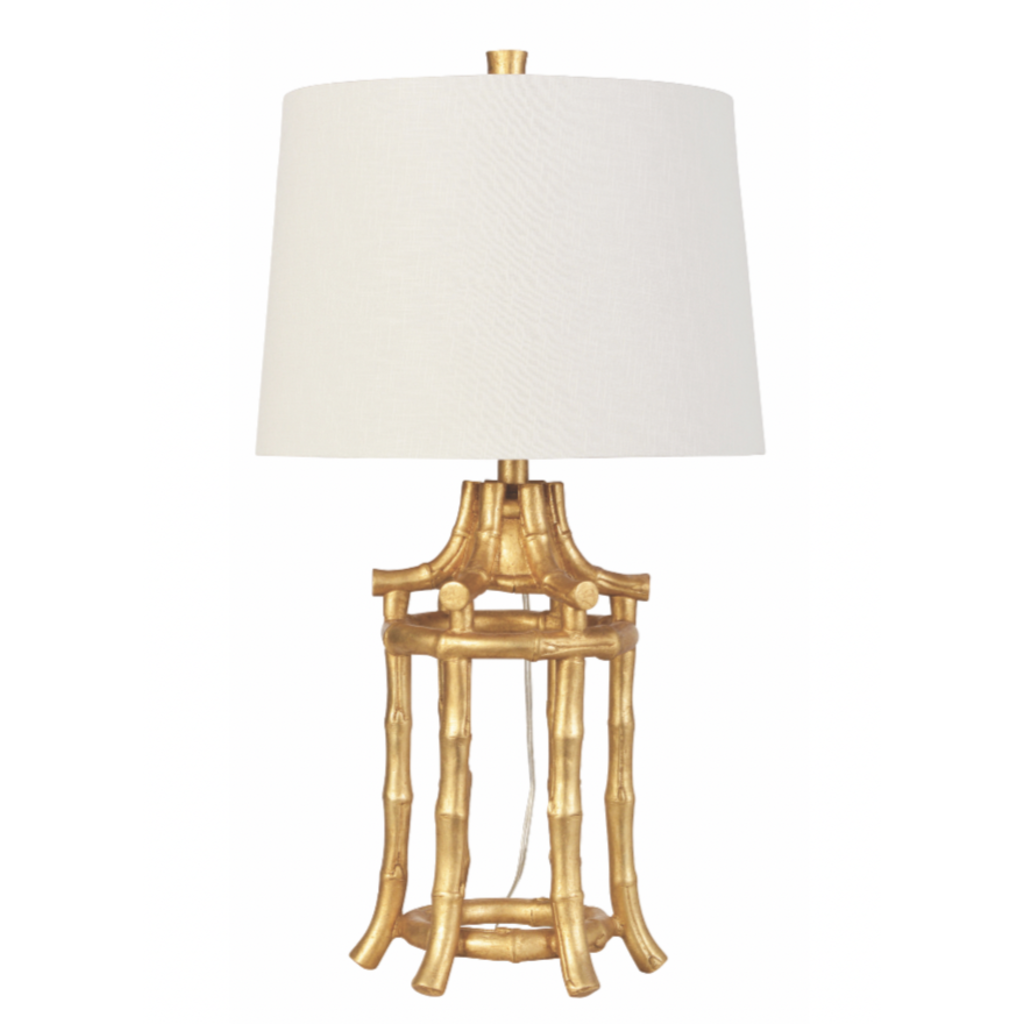 Couture Lamps 29'' Golden Bamboo Table Lamp